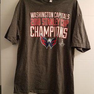 Washington Capitals Championship 2018 Shirt NWOT